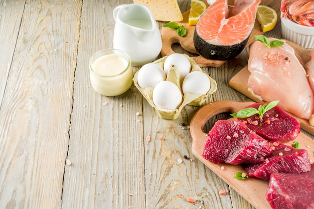 Fontes de proteína animal