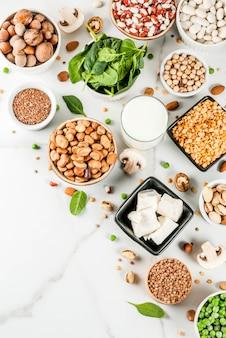 Fontes de proteína vegana