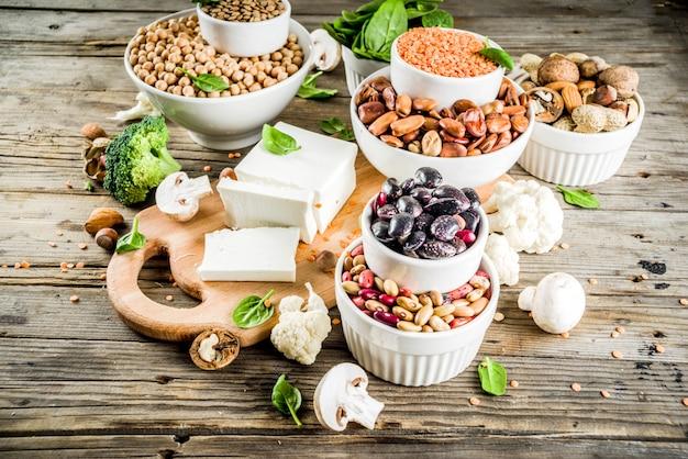 Fontes de proteína vegetal vegana