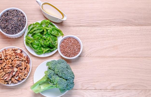 Fontes vegetais de ácidos ômega-3