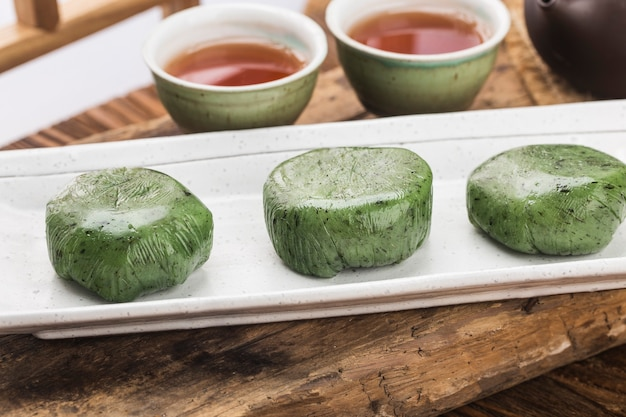 Food of tomb sweeping day festival na china - bolinho verde