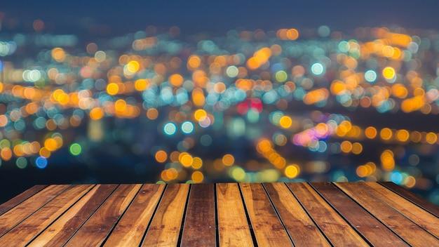 Fora de foco as luzes da cidade