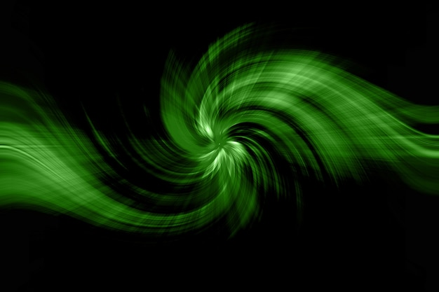 Forma abstrata da torção do cabelo do verde.