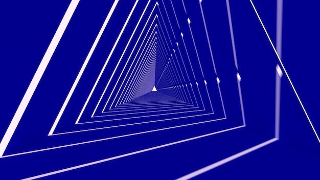 Forma abstrata triângulo em fundo azul