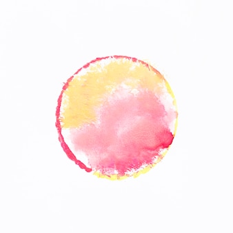 Forma circular de aquarela