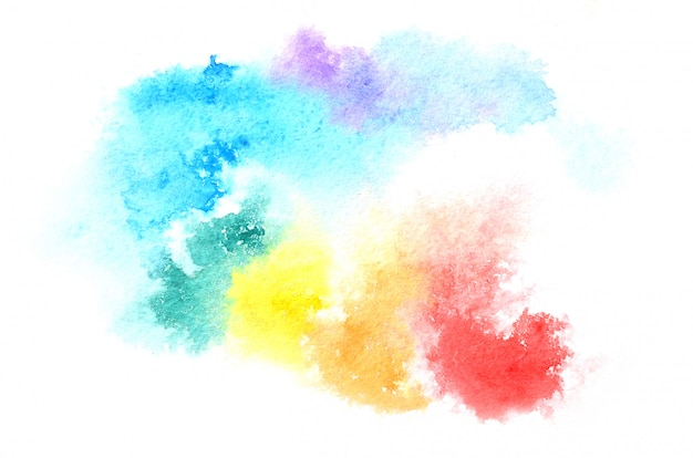 Forma de aquarela desenhada mão em tons mistos. fundo pintado criativo, decoração feita à mão