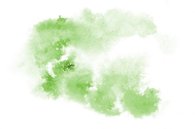 Forma de aquarela verde desenhada de mão