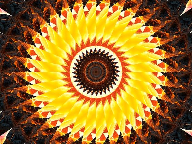 Forma de caleidoscópio espiral trippy, muito perfeita para padrão de batique, boêmio, arte de parede, moldura de espelho, pano de fundo, design de tapete, tapeçaria.