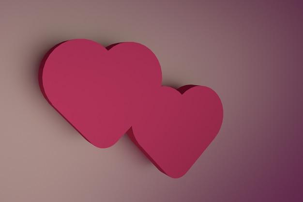 Forma de coração brilhante brilhante vermelho