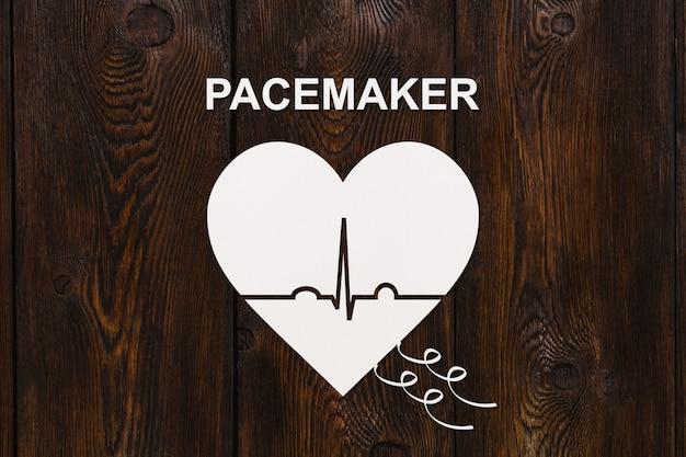 Forma de coração com ecocardiograma e texto