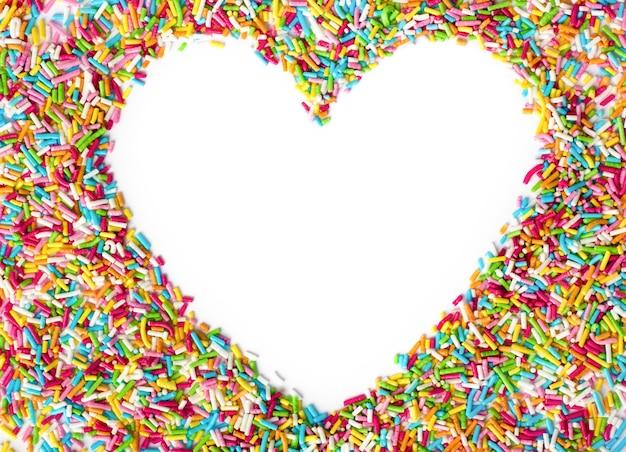 Forma de coração com espaço vazio para o texto no centro do coração. plano de fundo dia dos namorados.