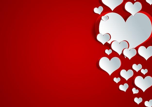 Forma de coração em papel artesanal