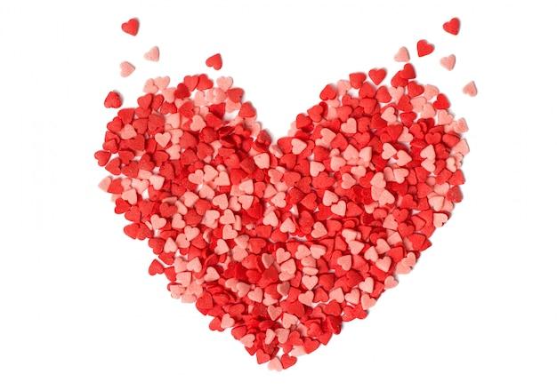 Forma de coração feita de doces