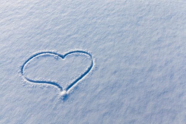 Forma de coração no inverno