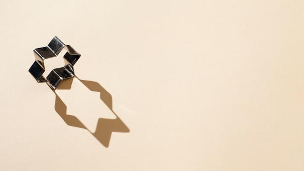 Forma de estrela com espaço de cópia de sombra