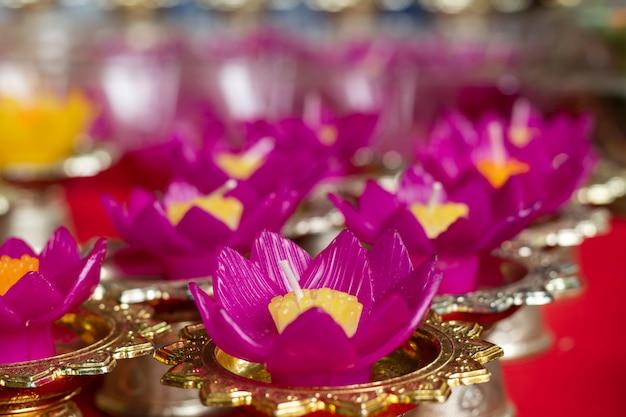 Forma de flor de cor de vela para ponto flutuante