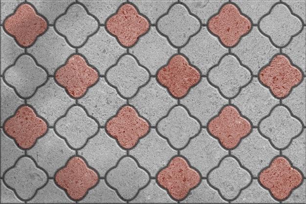 Forma de flor de pavimento cinza e marrom