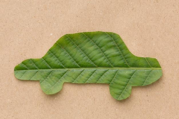 Forma de folha do carro