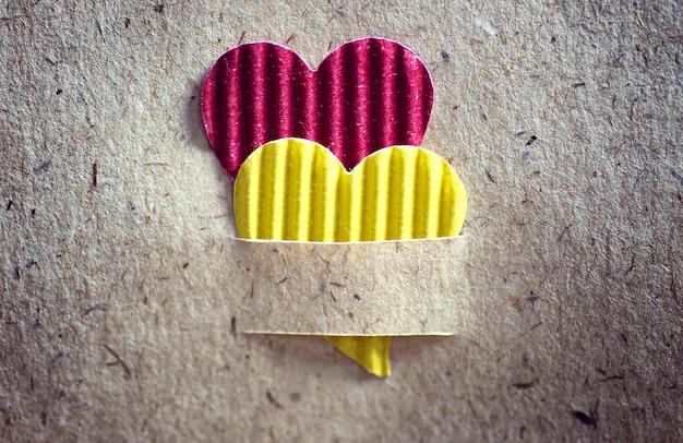 Forma de fundo de papel de textura de coração