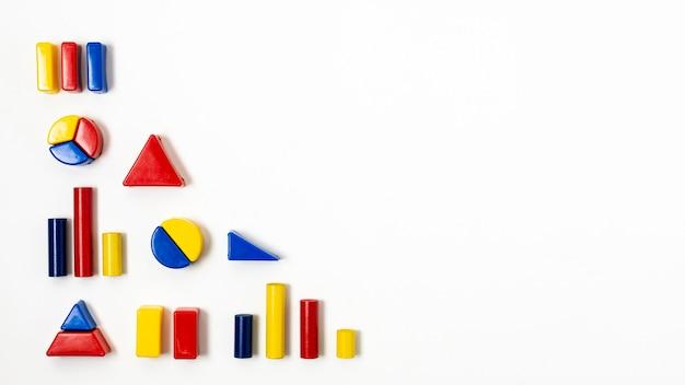 Forma de hierarquia com variedade de gráficos estatísticos