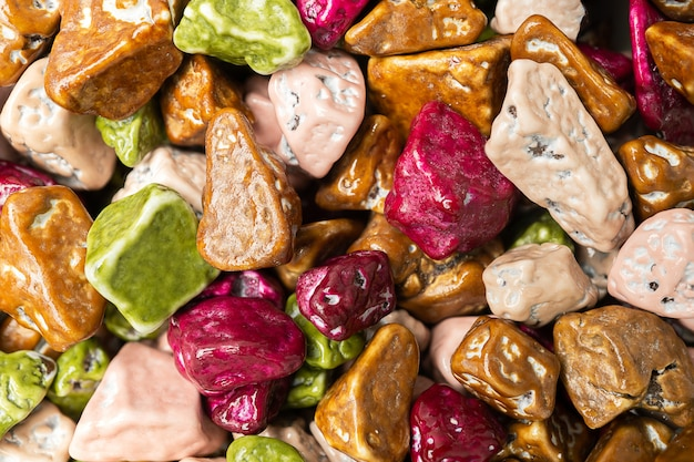 Forma de lanche de doces de chocolate como pedra fechar fundo