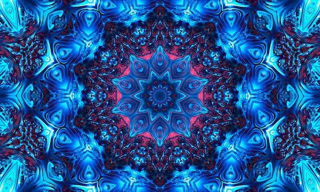 Forma de nó celta de fundo místico, sinal mágico azul