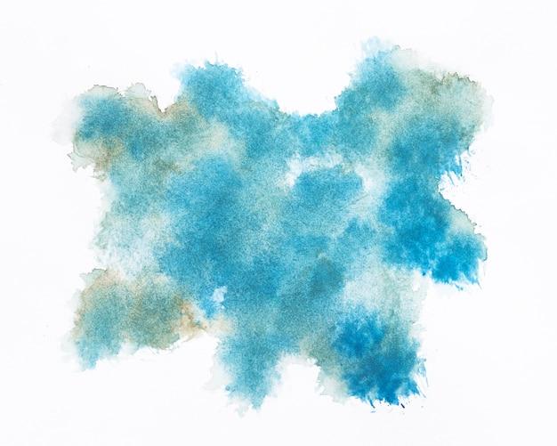 Forma de nuvem azul aquarela