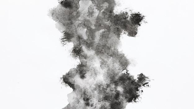 Forma de nuvem cinza aquarela
