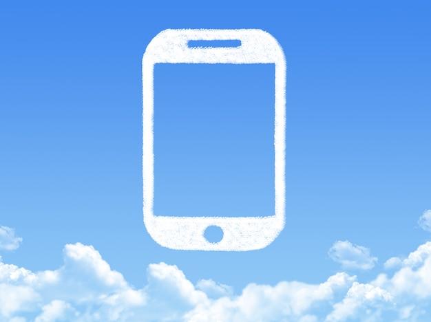 Forma de nuvem de telefone