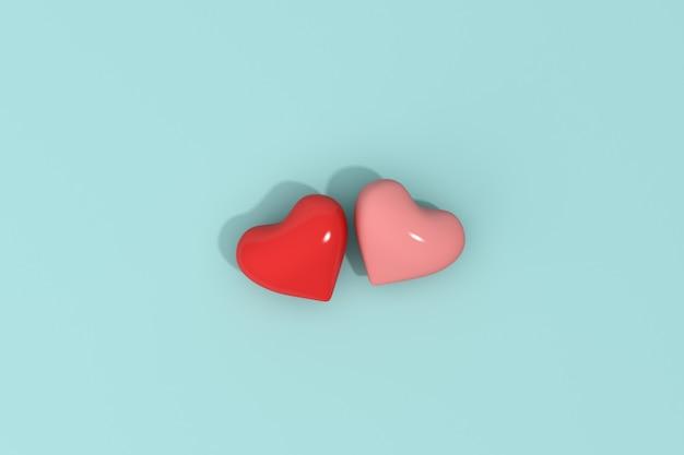 Forma de pares de corações, conceito dos namorados.