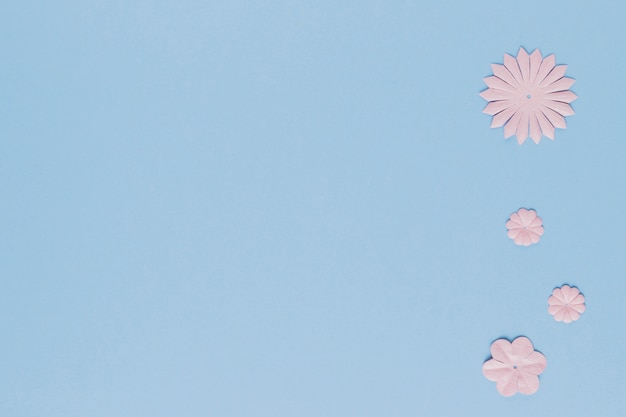 Forma diferente de recorte de flor com fundo de espaço de cópia
