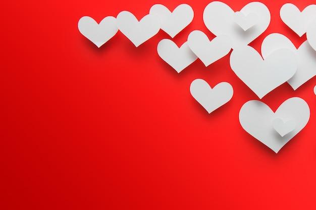 Forma do coração do corte do papel do fundo.