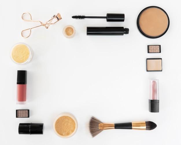 Forma dos produtos de maquiagem