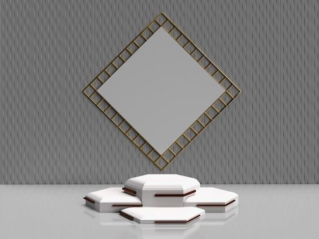 Forma geométrica abstrata de renderização 3d minimalista para produtos