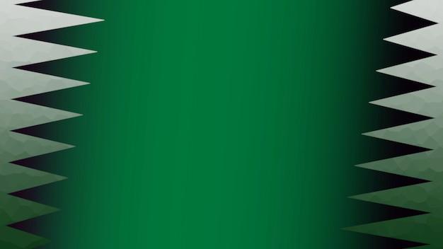 Forma geométrica abstrata no fundo verde do esporte retro. estilo de ilustração 3d elegante e luxuoso para modelo de esporte e publicidade
