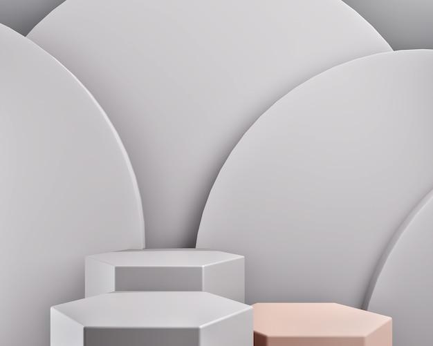 Forma geométrica abstrata ou renderização em 3d de palco