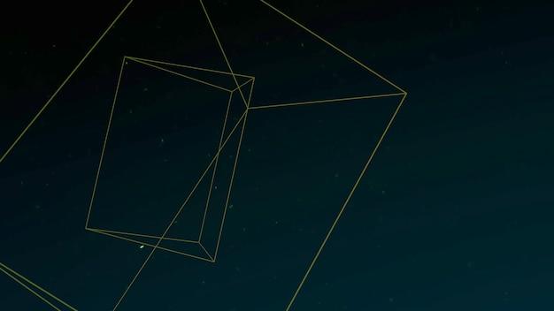 Forma geométrica com partículas no espaço, fundo abstrato. estilo geométrico dinâmico elegante e luxuoso para negócios, ilustração 3d