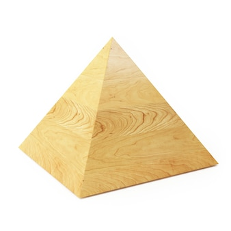 Forma geométrica de bloco de madeira