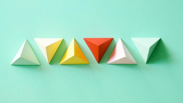 Forma geométrica de papel