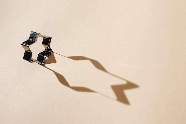 Forma judaica de estrela com sombra