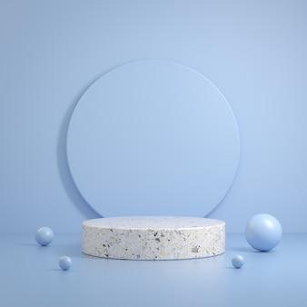 Forma primitiva de cena de mármore de pedra branca minimalista moderna