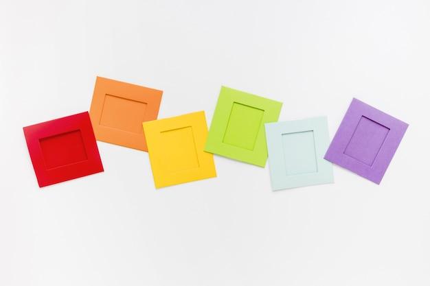 Forma quadrada de papel de vista superior