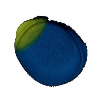 Forma redonda abstrata pintado à mão. pintura de tinta de álcool. arte contemporânea moderna