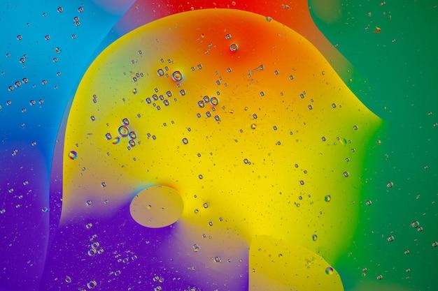Forma suave e fluida de cores diferentes