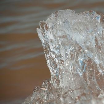 Formação gelo, em, winnipeg, praia, manitoba, canadá