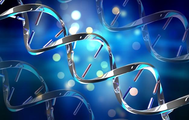 Formação médica 3d com filamentos de dna