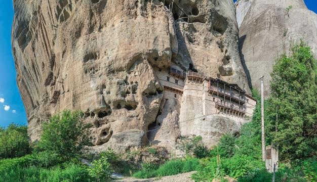 Formação rocha, em, meteora, grécia