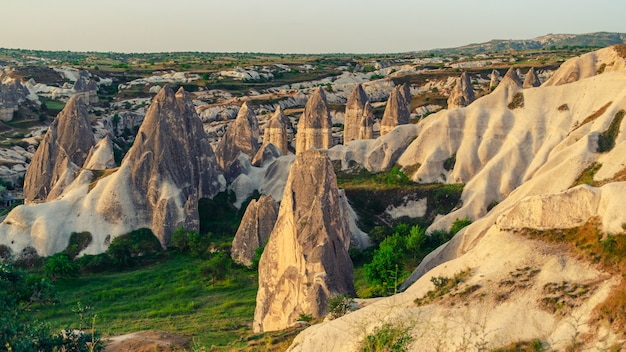 Formações rochosas na capadócia turquia