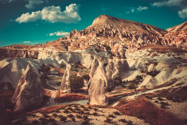 Formações rochosas na turquia