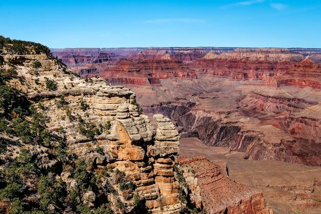Formações rochosas no grand canyon